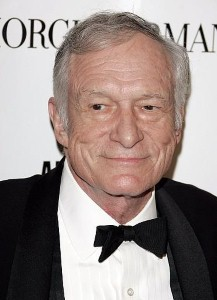 Hugh Hefner arrives in UK with Playboy bunnies
