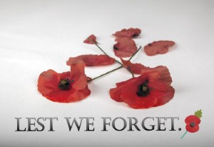 Lest we forget: Remembrance Day