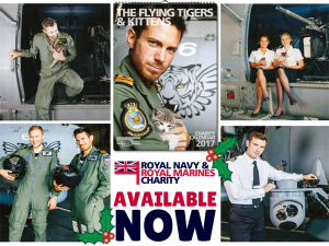Rescued Navy kitten stars in new charity calendar