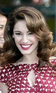 Kelly Brook seen smiling with boyfriend