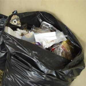 Man jumps down rubbish chute after argument with partner